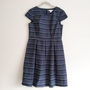 Liz Claiborne fit and flare dress 12 navy